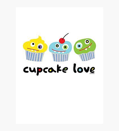Cupcake Love - beige Photographic Print