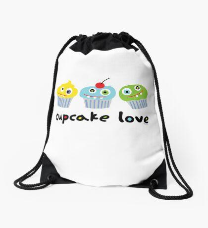 Cupcake Love - beige Drawstring Bag