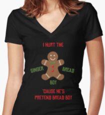 Pretend-Bread Boy [Carl Poppa] Women's Fitted V-Neck T-Shirt