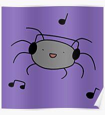 Headphones Spider  Poster