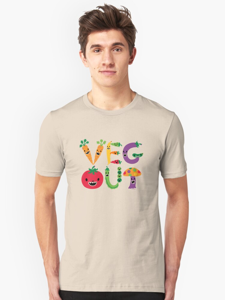 Veg Out dark Unisex T-Shirt Front