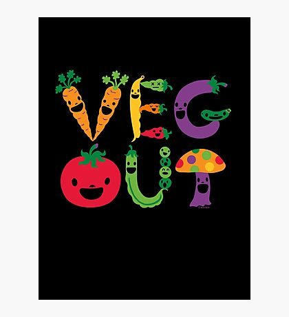 Veg Out dark Photographic Print