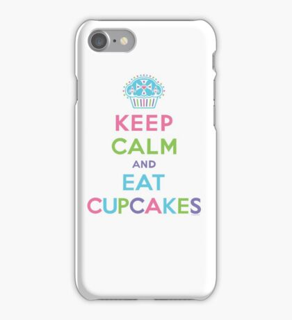 Keep Calm and Eat Cupcakes - on darks iPhone Case/Skin