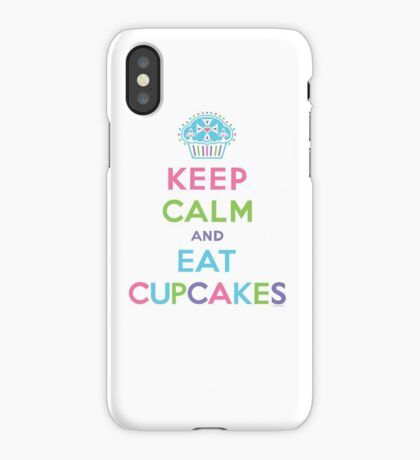 Keep Calm and Eat Cupcakes - on darks iPhone Case