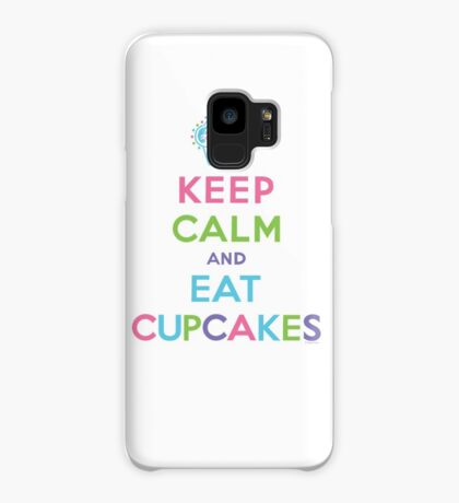 Keep Calm and Eat Cupcakes - on darks Case/Skin for Samsung Galaxy