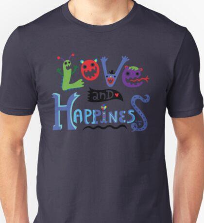 Love & Happiness  - beige T-Shirt