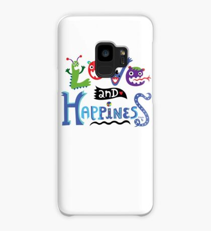 Love & Happiness  - beige Case/Skin for Samsung Galaxy