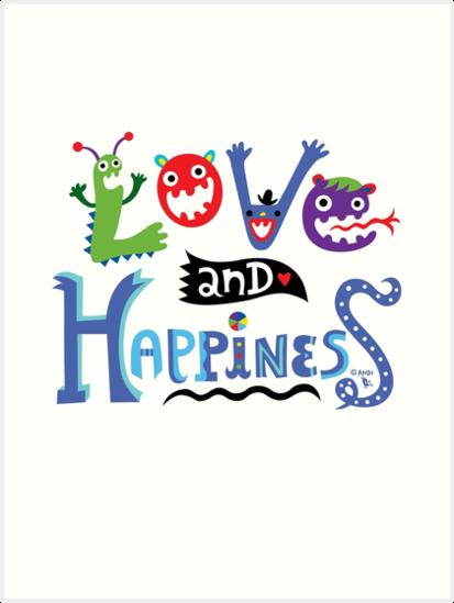Love & Happiness  - beige by Andi Bird