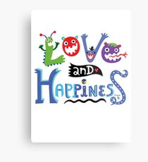 Love & Happiness  - beige Metal Print