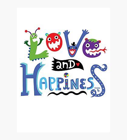 Love & Happiness  - beige Photographic Print