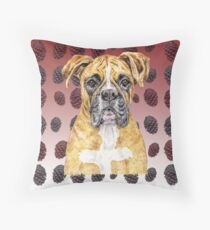 Boxer Dog to Love with Brilliance Throw Pillow