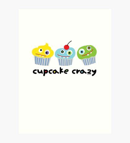 Cupcake Crazy - beige Art Print