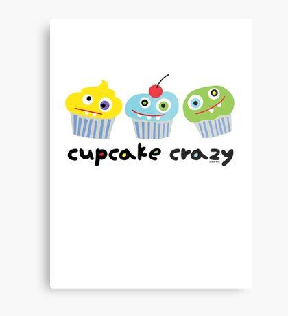 Cupcake Crazy - beige Metal Print