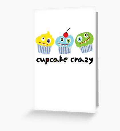 Cupcake Crazy - beige Greeting Card