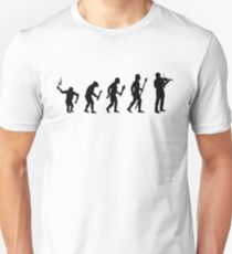 The Evolution Of Man And Violin Unisex T-Shirt