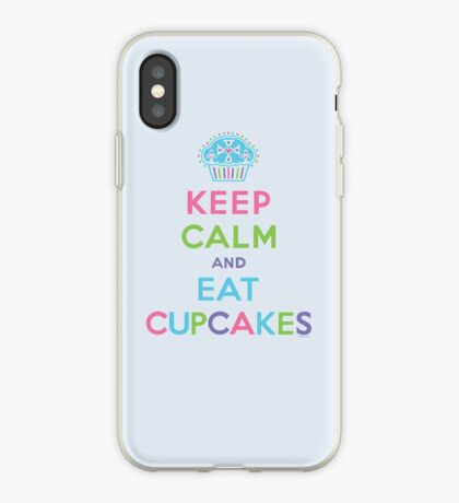 Keep Calm and Eat Cupcakes - beige iPhone Case
