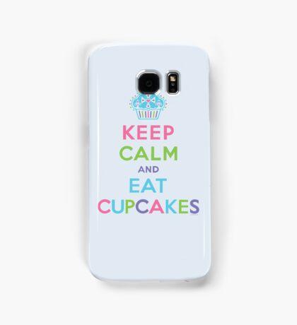 Keep Calm and Eat Cupcakes - beige Samsung Galaxy Case/Skin
