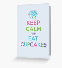 Keep Calm and Eat Cupcakes - beige Greeting Card