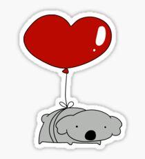 Heart Balloon Koala  Sticker