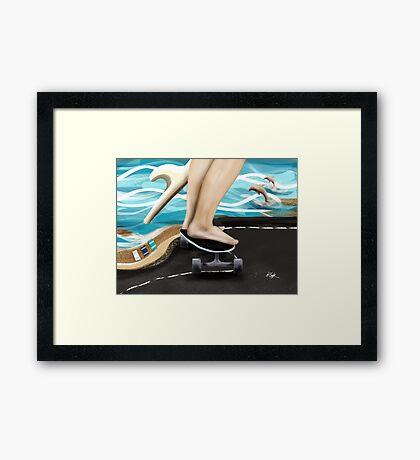 Seaside Skater Framed Print
