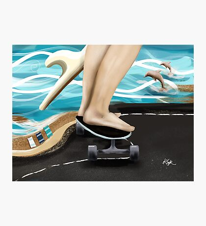 Seaside Skater Photographic Print