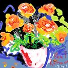 Pot of flowers -(170417)- MS Paint/Mouse drawn by paulramnora