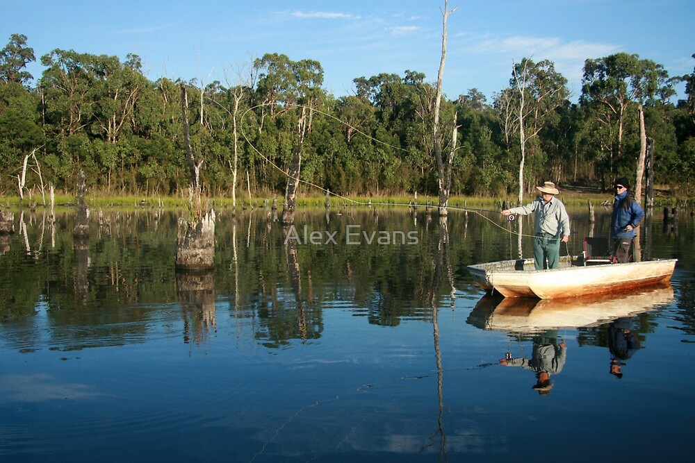 Fly fishing Timber Lake.  by Alex Evans