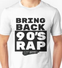 Rap / Hip Hop Gift - 90s Rapper Lover Art - Rap Music with Microphone Illustration Unisex T-Shirt