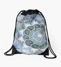 Floating Mandala Drawstring Bag