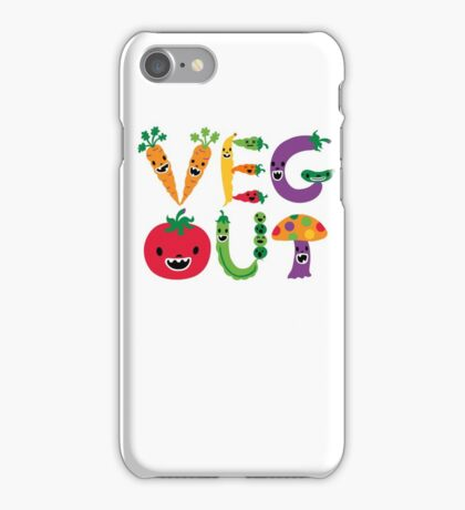 Veg Out - white iPhone Case/Skin
