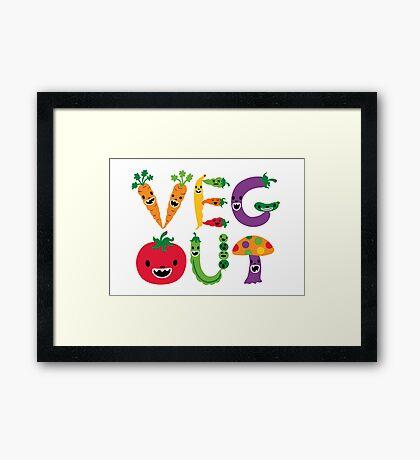 Veg Out - white Framed Print