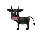 Black and White Cow by Danielle Espin
