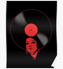 Afrovinyl (Red) Poster