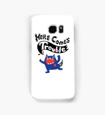 Here Comes Trouble - colbalt Samsung Galaxy Case/Skin
