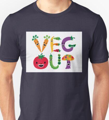 Veg Out - white T-Shirt
