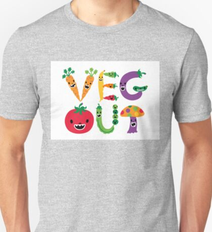 Veg Out - white T-Shirt