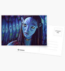 Zoe Saldana as Neytiri in Avatar Postcards