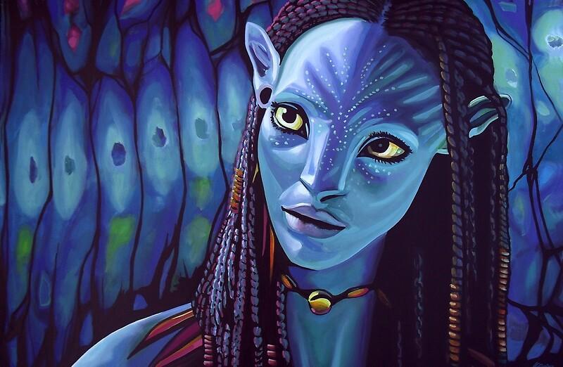 Quot Zoe Saldana As Neytiri In Avatar Quot Laptop Skins By