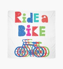 Ride a bike - sketchy - white Scarf