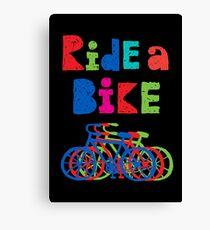 Ride a Bike - sketchy - black Canvas Print