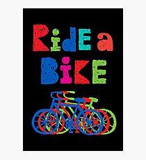 Ride a Bike - sketchy - black Photographic Print
