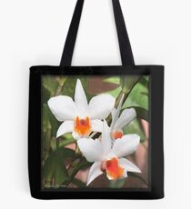 Painted Orchids Tote Bag