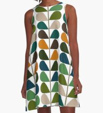 Retro 60s Mid Century Modern Pattern 2 A-Line Dress