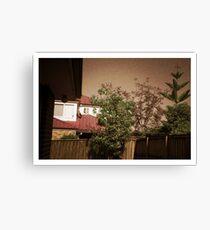 My backyard - Pinhole photography Canvas Print