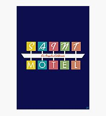 Retro Motel Sign Photographic Print