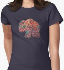 vintage elephant Womens Fitted T-Shirt