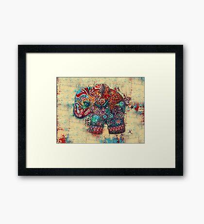 vintage elephant Framed Print