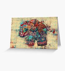 vintage elephant Greeting Card