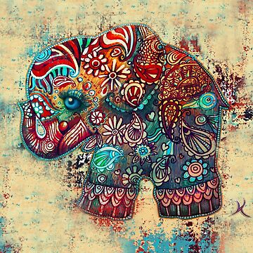 vintage elephant  by karin