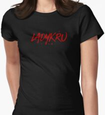 Ladykru (Red Text) Womens Fitted T-Shirt